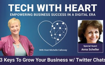 3 Keys to Grow Your Business with Twitter Chats– A Tech With Heart Interview With Anna Scheller