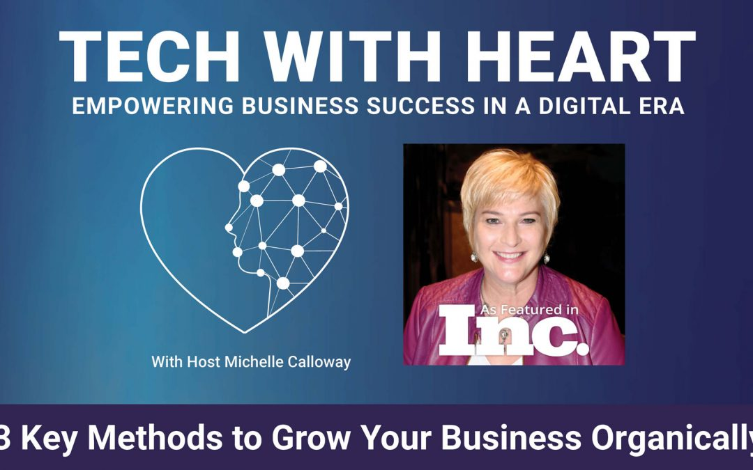 3 Key Methods to Grow Your Business Organically – A Tech With Heart Episode with Michelle Calloway